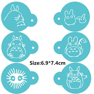 6 Pcs Packed Totoro Cookie Cake Stencil Decorate Mould Fondant Biscuit Tool