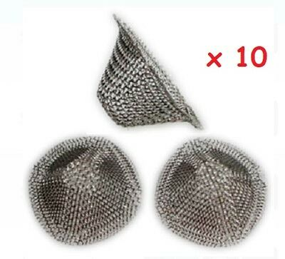10 x Cone Mesh Filters Screen Pipe 1cm Deep