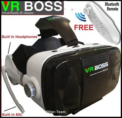 2017 VR BOSS Ver 2 Headset Virtual Reality Glasses for iPhone 6s 6 plus Samsung