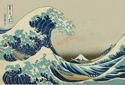 Reproduction Woodblock Prints The Great Wave off Kanagawa by Katsushika Hokusai
