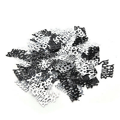 Black Silver 21thBirthday Party Table Confetti Decorations Age 13-21 SprinklesFG
