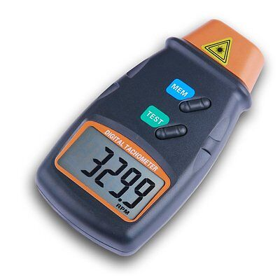 Tachometer Digital Laser Photo Non Contact Rotational Speed Tester RPM Lathe