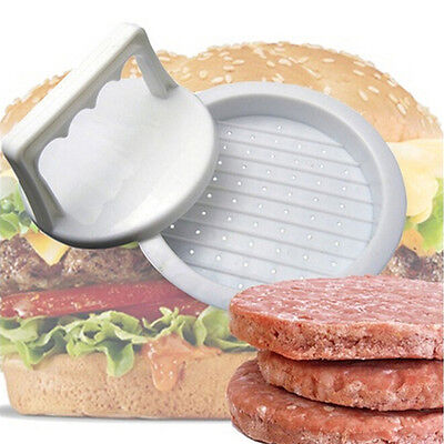 Plastic Burger Press Hamburger Meat Beef Grill Cooking Maker Kitchen Mold FG