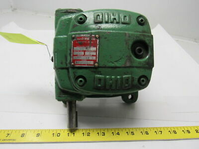 Ohio Gear PL-0 Right Angle Gear Box Speed Reducer 50:1 Ratio