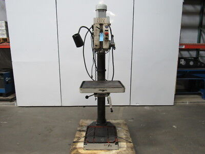 "ARBOGA MASKINER A4008MW Geared Head Drill Press 20""x17"" Table & 16""x16"" Base"