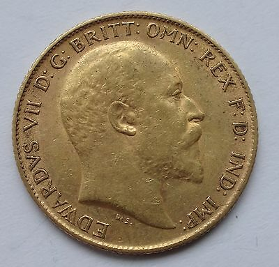 Edward VII gold 1908 Half Sovereign coin higher grade - 1052