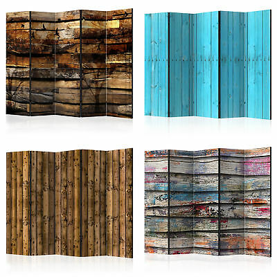 Decorative Photo Folding Screen Wall Room Divider Wood Texture 2 Sizes!