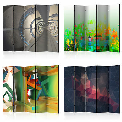 Decorative Photo Folding Screen Wall Room Divider Abstraction! 2 Sizes!
