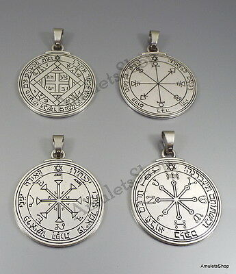 Pack 4 Pendant Pentacle of the Sun, Mars, Venus and Moon Talisman King Solomon
