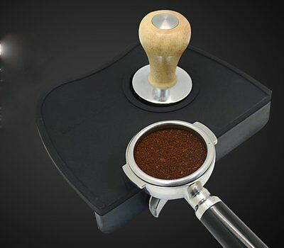 Barista Coffee Tamper Mat Holder Latte Art Colour Black Rubber Silicone