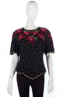 Sequinned evening top Laurence Kazar New York