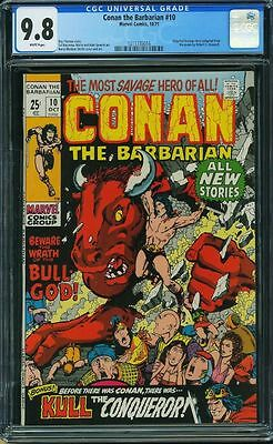 Conan The Barbarian #10 Cgc 9.8 White Pages Highest Cgc Graded Cgc #1211735016