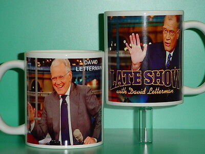 DAVID LETTERMAN - Late Show - with 2 Photos - Designer Collectible GIFT Mug