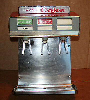 Vintage Coca Cola Coke Fountain Drink Dispenser Mancave Table Top