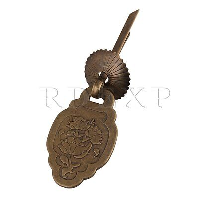 RDEXP Jewelry Box Carved Flower Pull Handles with U-Shaped Pin Bronze