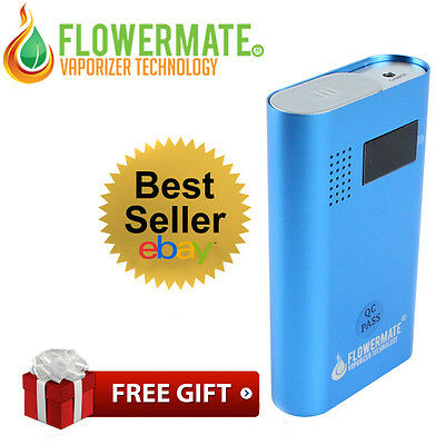 Official Vapormax Flowermate V5.0 PRO Portable Vaporizer in BLUE