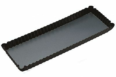 Master Class Non-Stick Loose Base Rectangular Fluted Flan / Quiche Tin