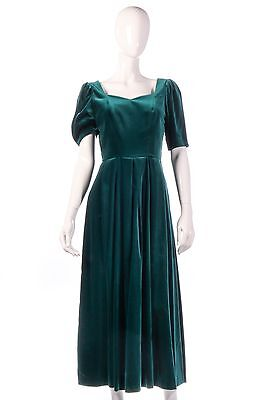 Laura Ashley vintage green velvet dress size 10/12