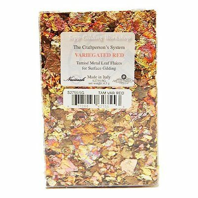 Sepp Gilding Workshop Nazionale Tamise Gold Leaf Flakes (Variegated Red 4.5g)