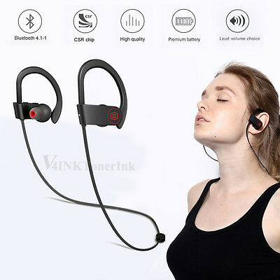 Wireless Bluetooth Headphone & Wired Magnet In-Ear Sport Stereo Earbuds Headset