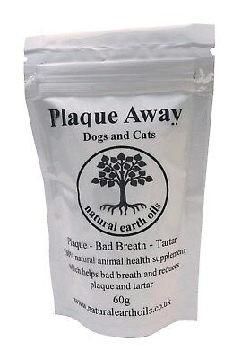 Plaque Away- Dogs & Cats- 60g & 150g- Bad Breath and Tartar Removal