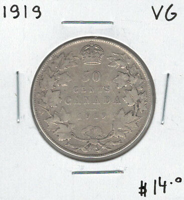 Canada 1919 Silver 50 Cents VG Lot#3