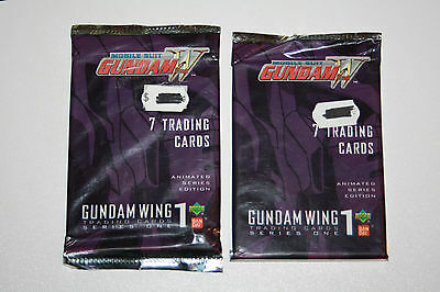 2x Mobile Suit Gundam Wing W series one 2000 Upper Deck trading cards packs