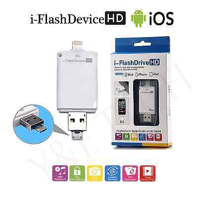 128 GB/ 64 GB NEW USB i-Flash Drive Memory Stick OTG For iPhone iPod IOS Android