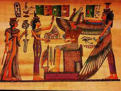 Egyptian Papyrus Paintings Picture Art Hand Painted Made in Egypt  # 12