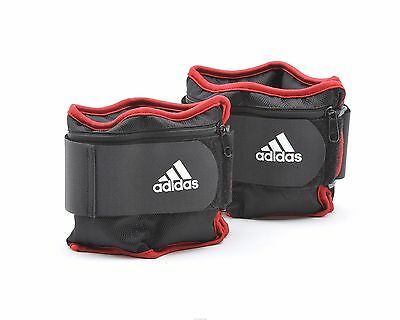 TOBILLERAS LASTRADAS ADAPTABLES 2x2 KG - ADJUSTABLE ANKLE WEIGHTS - PESAS ADIDAS