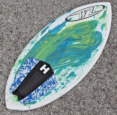 "NEW Wave Zone Surge Skimboard 45"" with Traction Pad - Green & Blue - Fiberglass"