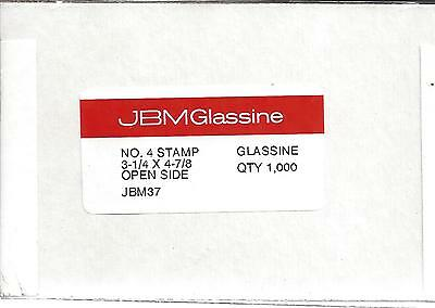 "Box of 1000 NEW JBM #4 Glassine Envelopes 3 1/4"" x 4 7/8"" FREE U.S. SHIPPING"