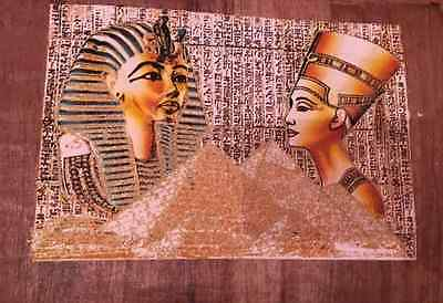 Glow in the dark  NEW DESIGN Egyptian Papyrus Paintings Picture Art # 28