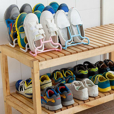 2pcs Balcony Drying Child Shoe Rack Holder Storage Space-Saver Supplies