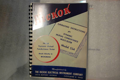 Operation & Test Data Manual For Hickok 534 Tube Tester