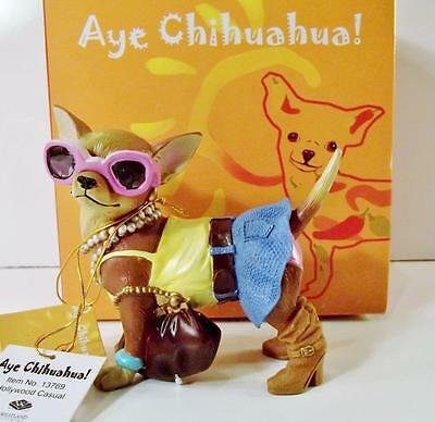 """Westland Giftware AYE CHIHUAHUA! """"HOLLYWOOD CASUAL"""" Figurine #13769 ~ with Box"""
