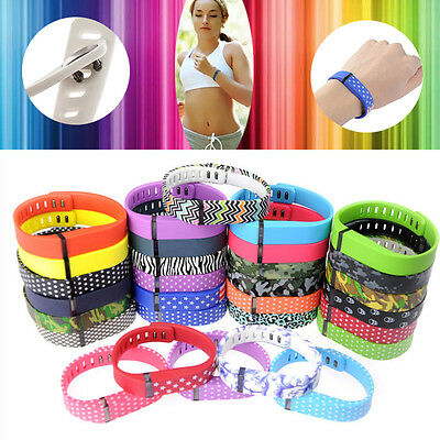 Large/S Size Replacement Wrist Band For Fitbit Flex Bracelet With Clasps HOT