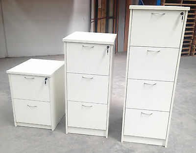 Office 2, 3 or 4 Drawer Filing Cabinets - Parchment