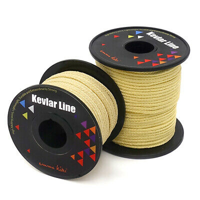 Strong Roll 100ft 200ft Kevlar Sewing Thread Heat Resistant Test 100 to 1000lb