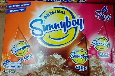 1 x Pack of Sunnyboy - Orange Cola Raspberry 6 x 150ml In Pack NEW Sunny Boy