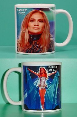 JENNIFER LOPEZ - with 2 Photos - Designer Collectible GIFT Mug
