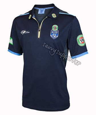 NSW Blues Navy Team Polo Shirt 'Select Size' S-5XL NRL State of Origin