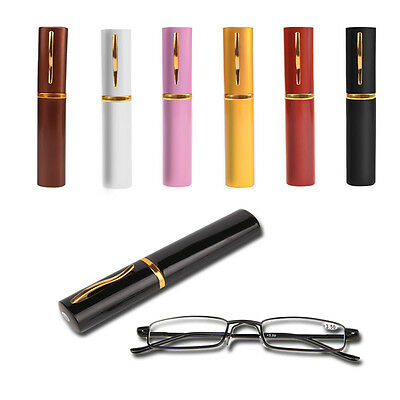 Unisex Metal With Tube Case Fashion Colors Reading Glasses 1.00-4.00 Diopter