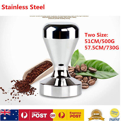 51/57.5MM Stainless Steel Coffee Tamper Tampa Tamp Espresso Press Coffee Machine