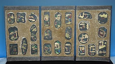Ultra Rare Set Of 24 Antique Chinese Well Carved Ink Sticks Marked I9922