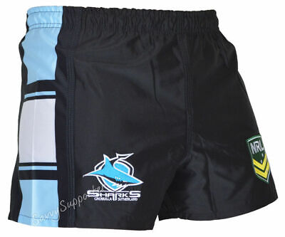Cronulla Sharks 2018 NRL Footy Shorts Adults & Kids Sizes BNWT