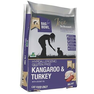 Meals for Mutts & Meows Kangaroo & Turkey - Cat Food - Made in Australia - 9kg