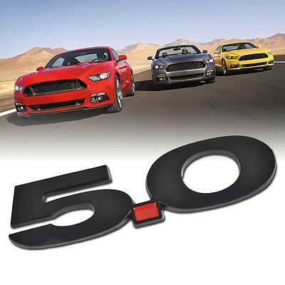Metal 5.0 Car Emblem Badge Sticker Decal for Ford Mustang Black New