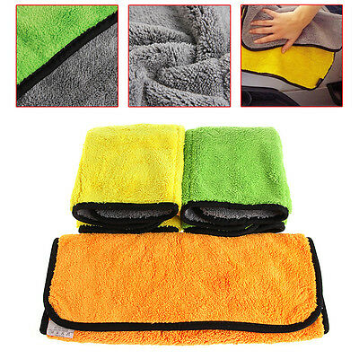 Ultra Thick Plush Microfiber Car Cleaning Towels Buffing Cloths Durable