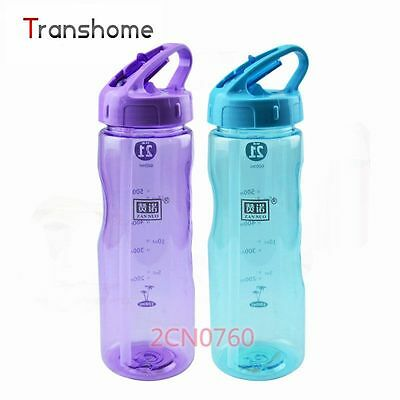 Sports Flip Straw Drink Water Bottle Hydration Cycling Hiking Camping